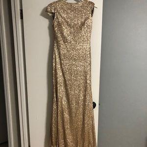 Sorella Vita 8718 Size 12 Gold Formal Dress